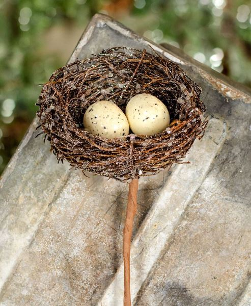 Picture of Icy Nest With Eggs Pick, Small
