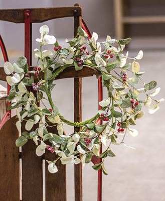 """Picture of Winter Silver Dollar Wreath, 16"""""""