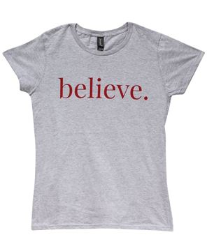 Picture of Believe Tee, Grey