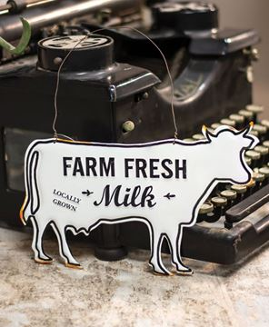 Picture of Farm Fresh Milk Enamel Ornament