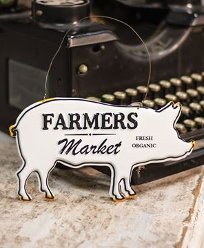 Picture of Farmers Market Enamel Ornament