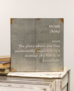 Picture of Home Definition Metal Sign
