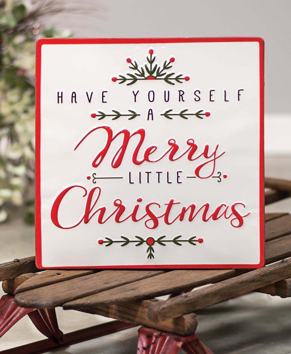 Col House Designs - Wholesale| Merry Little Christmas Enamel Sign | Craft House Designs