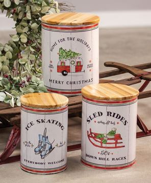 Picture of Wintertime Canisters, 3/set