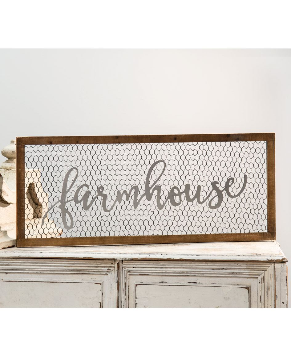 Craft House Designs - Wholesale| Framed Chicken Wire Sign ...