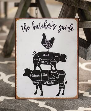 Picture of Butcher's Guide Distressed Metal Sign