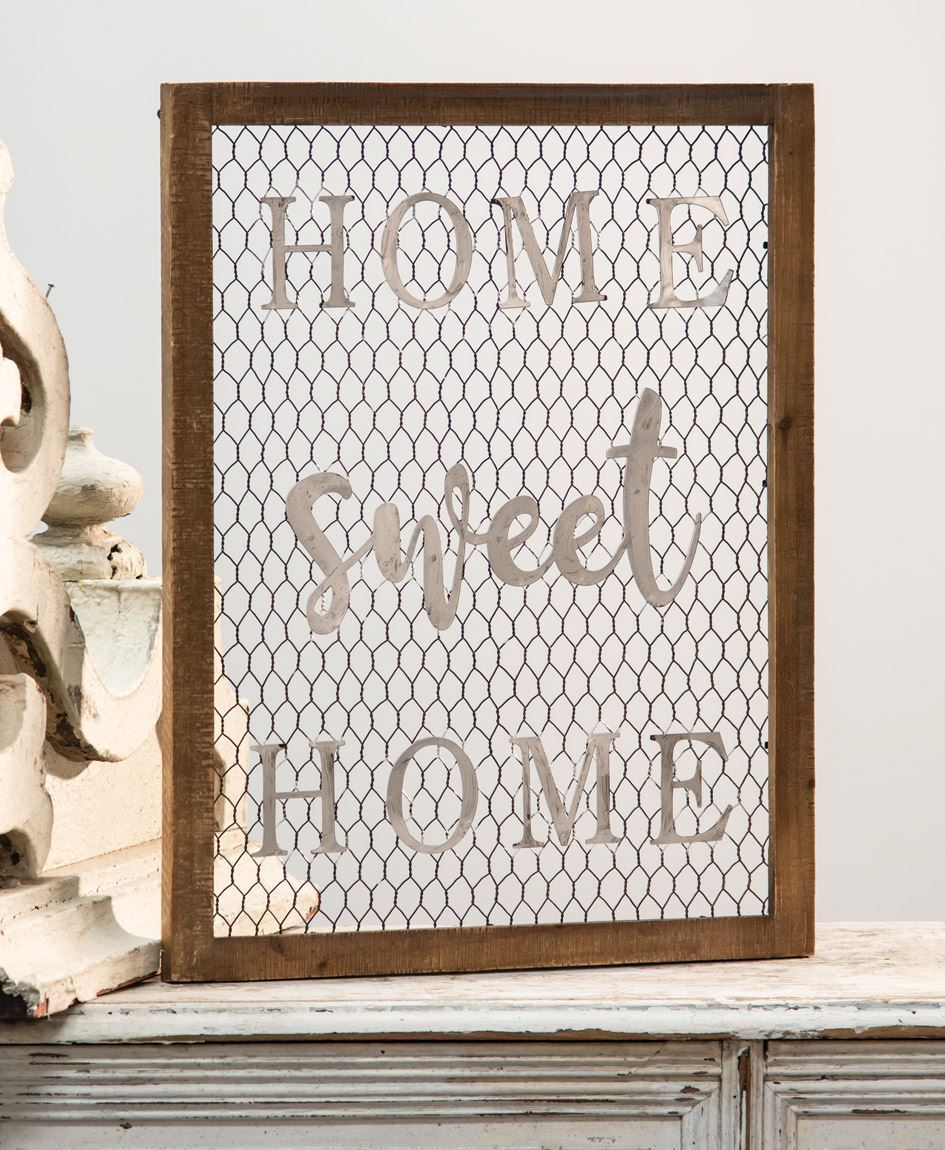 Craft House Designs - Wholesale| Framed Chicken Wire Wall Art - Home ...