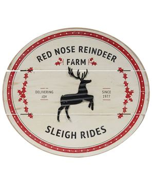 Picture of Red Nose Reindeer Farm Sign
