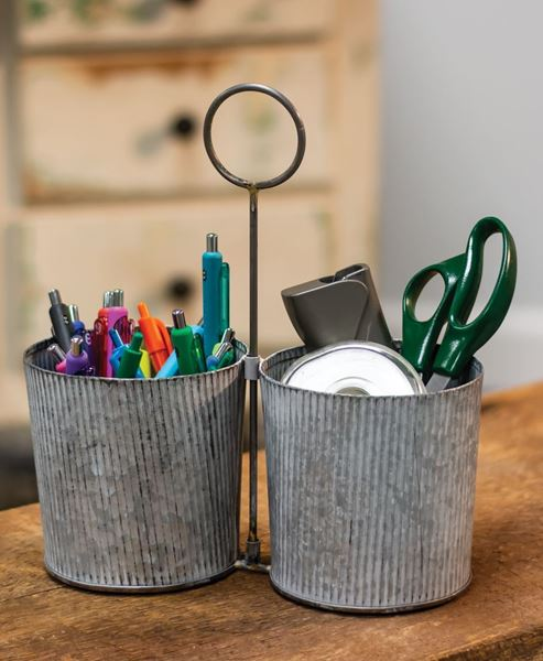 Picture of Washed Galvanized Metal Caddy