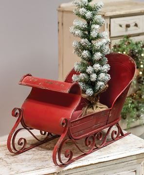 Picture of Rustic Red Sleigh