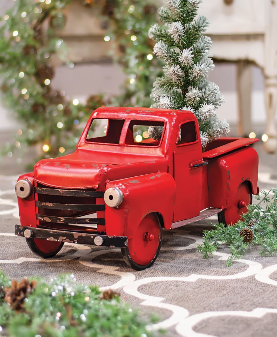 Craft House Designs Wholesale Red Farmhouse Truck