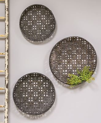 Picture of Woven Tobacco Style Baskets, 3/set