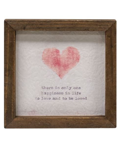 "Picture of Mini Framed Watercolor Art, 4""- Heart"
