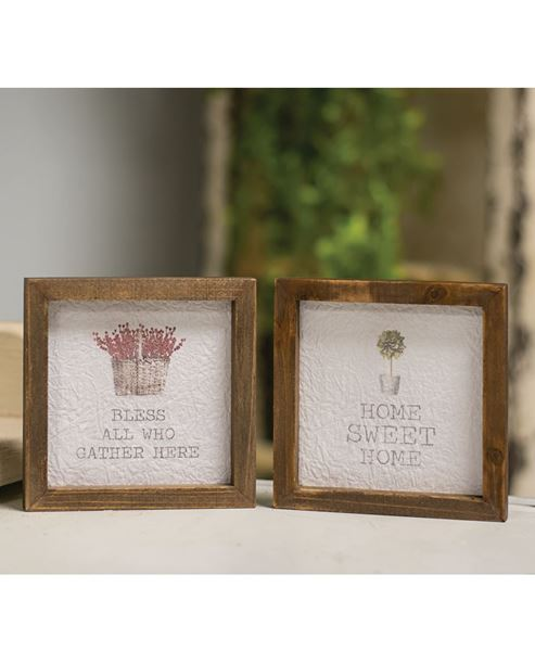 """Picture of Mini Framed Watercolor Art, 4""""- Home, 2 asst."""