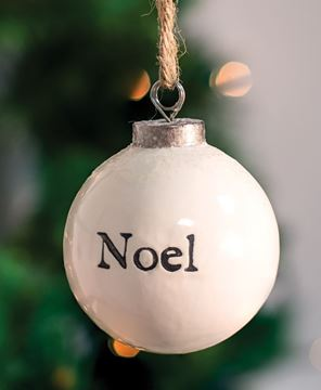 Picture of Noel White Ceramic Ornament