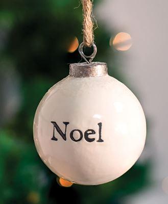 Picture of Noel White Ceramic Ornament