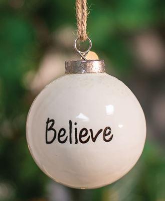 Picture of Believe White Ceramic Ornament