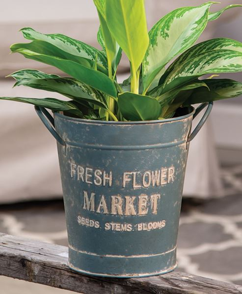 Picture of Vintage Fresh Flower Market Bucket
