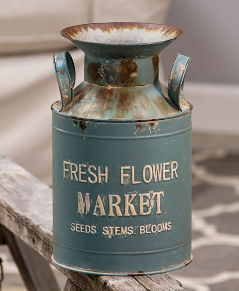 Picture of Vintage Fresh Flower Market Milk Can