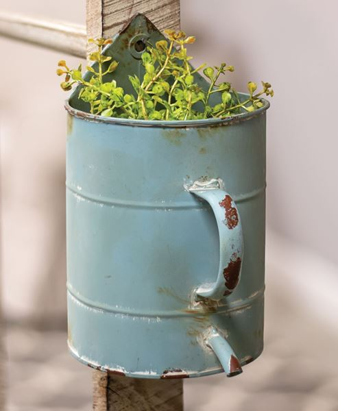 Picture of Rustic Blue Watering Can Flower Holder