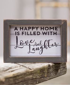 Picture of Love and Laughter Sign