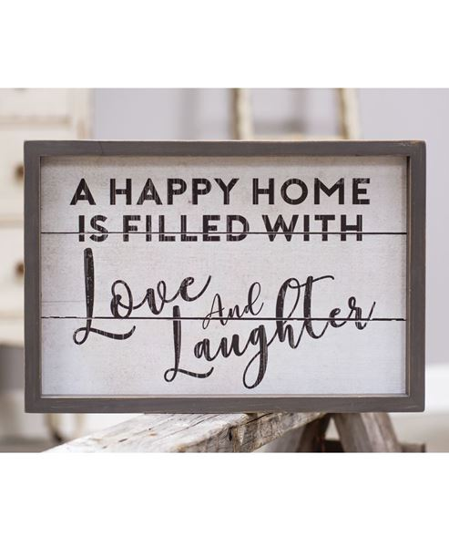 Picture of Love and Laughter Wall Sign