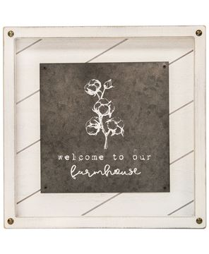 Picture of Welcome to Our Farmhouse Easel, 2 asst.