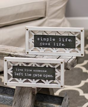 Picture of Simple Life Lattice Sign, 2 asst.