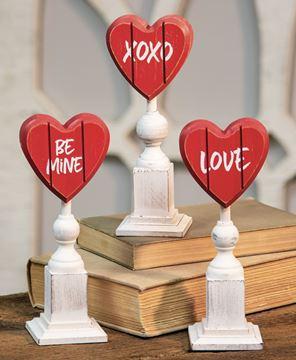 Picture of Be Mine Heart Pedestal, 3 Asstd.