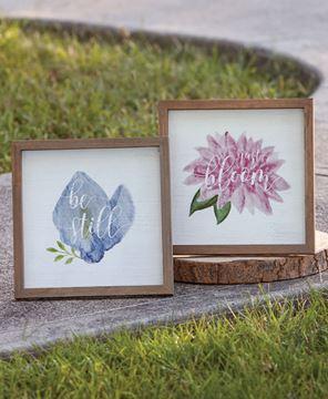 Picture of Just Bloom Framed Easel, 2 Asstd.