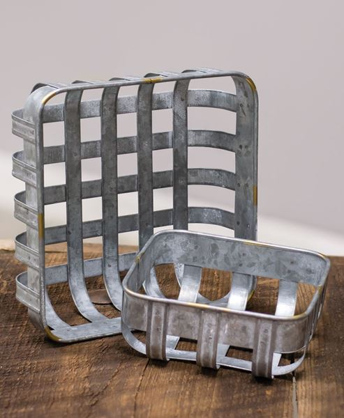 Picture of Galvanized Baskets, 2/set