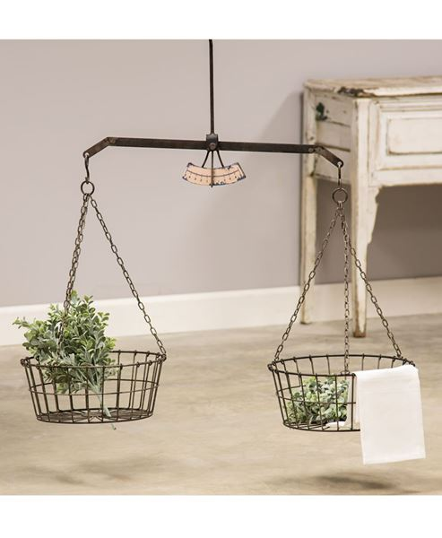 Picture of Hanging Scale w/ Two Wire Baskets