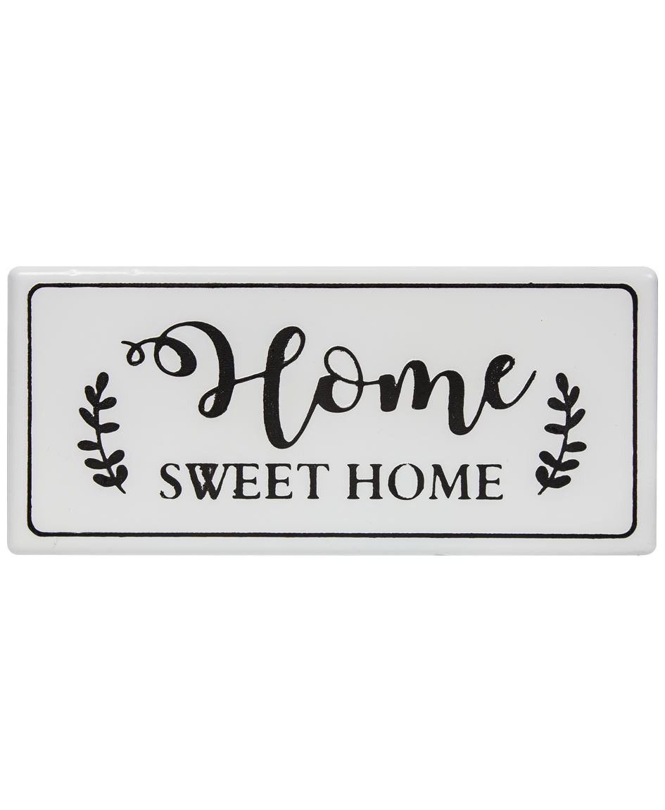 Col House Designs - Wholesale| Home Sweet Home White Metal ...