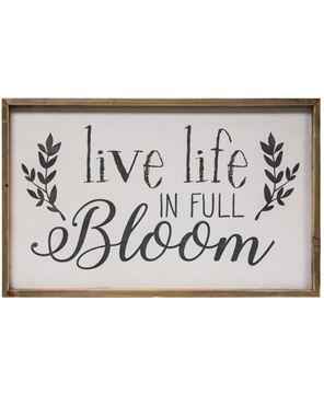 Picture of Live Life in Full Bloom Framed Wall Sign