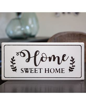 Picture of Home Sweet Home White Metal Wall Sign