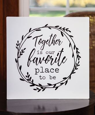 Picture of Together is our Favorite Place to be Metal Wall Sign