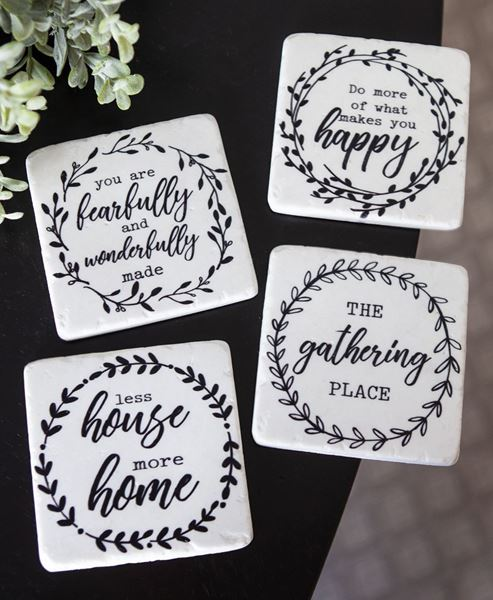 Picture of The Gathering Place White Coaster Set