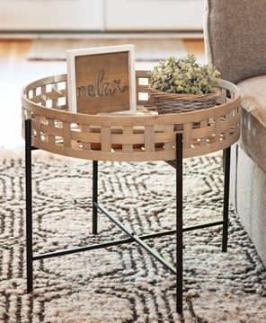 Picture of Round Basket Weave Coffee Table