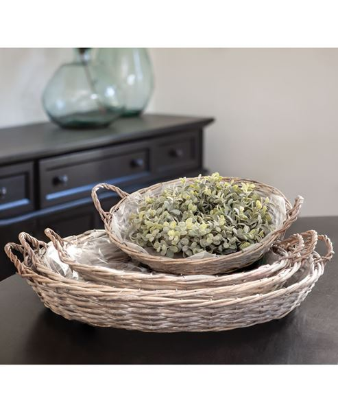 Picture of Gray Willow Round Baskets, 4/set