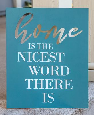 Picture of Nicest Word Wooden Cutout Sign