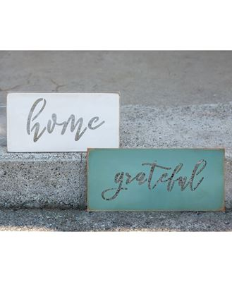 Picture of Grateful Cut-out Wooden Sign