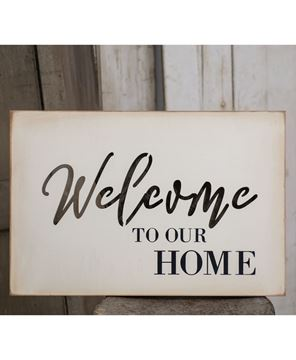 Picture of Welcome Cutout Wood Sign
