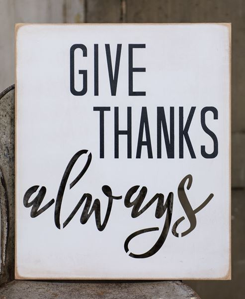 Picture of Give Thanks Cutout Wood Sign