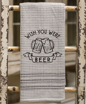 Picture of Wish You Were Beer Dish Towel