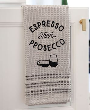 Picture of Espresso Then Prosecco Dish Towel