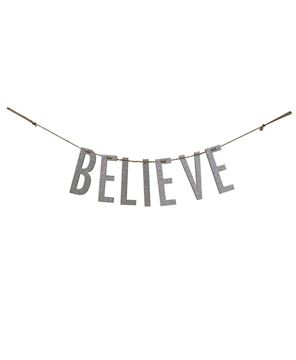 "Picture of ""Believe"" Silver Small Garland"
