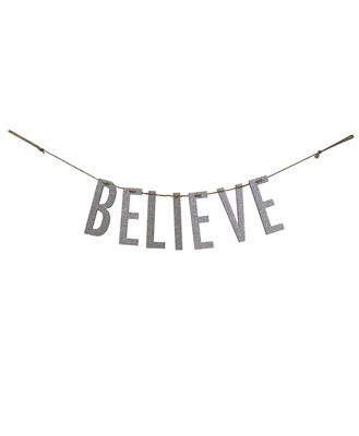 """Picture of """"Believe"""" Silver Small Garland"""