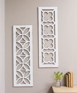 Picture of Distressed White Geometric Window Cutout