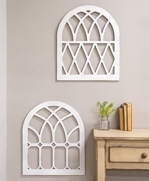 Picture of Wooden Farmhouse Window Arch (Diamond)