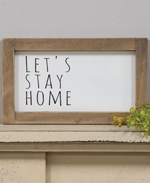 Picture of Let's Stay Home Framed Sign